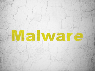 Privacy concept: Malware on wall background