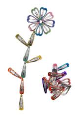 hair clips folded like a flower