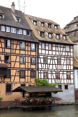 The timbered styled houses in Petite-France, Strasburg