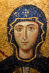Mary mosaic detail