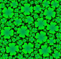 seamless background of clover
