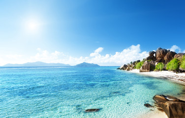 beach Source d'Argent, la Digue island, Seychelles
