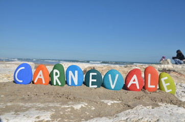Carnevale, Carnival concept on colourful stones