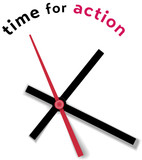 Time clock movement call for action