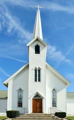 Rural Church, Midwest, Ohio, near Akron, USA