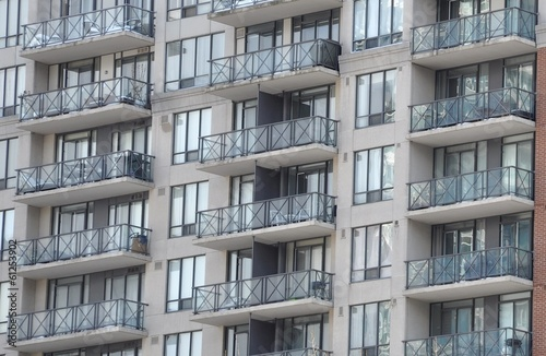 Balconies in winter