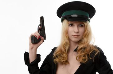 Armed girl in a uniform
