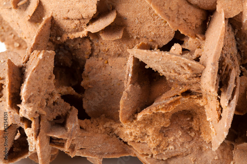 Brown desert rose mineral