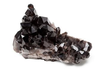 Black quartz on white background