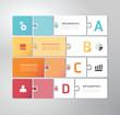 Modern Design Minimal jigsaw style infographic template vector