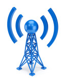 Blue antenna icon