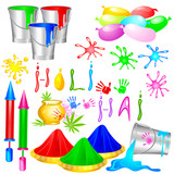 Holi Design Element