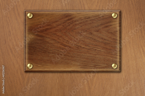 old wood plate over wooden texture background