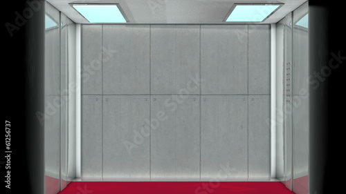 Looping animation of cg generated elevator.