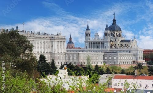 Fotobehang Madrid Madrid, Almudena Cathedral, Spain