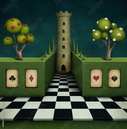 Fabulous background with tower