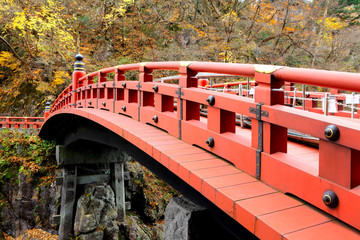 Red bridge Shinkyo in Japan