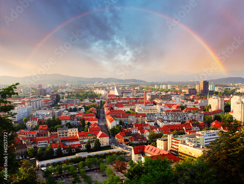 Ljubljana, capital city of slovenia