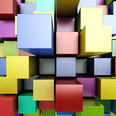 3d colorful blocks background © DigitalGenetics