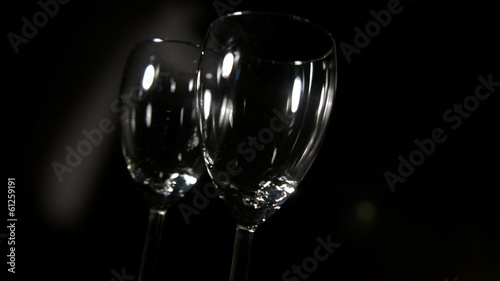 Wine glass in motion