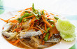 Thai Papaya salad with fresh horse crab