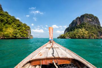 Boat trip at phi phi krabi beach in thailand