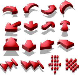 set of red arrow icon, created by vector