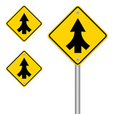 Traffic sign Lanes Merging isolated poster