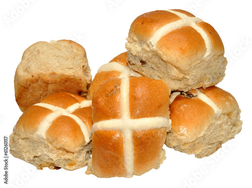 Foto op Plexiglas Brood Easter Hot Cross Buns
