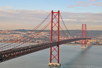 Golden gate bridge in Lisbon