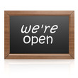 We are open on blackboard