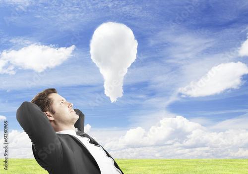 clud lamp in sky