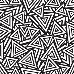 Abstract black and white seamless pattern. Vector