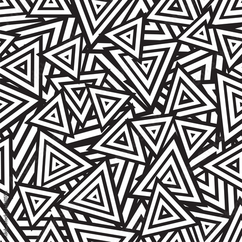 Abstract black and white seamless pattern. Vector - 61261594