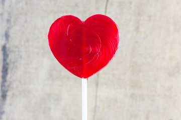 Heart shaped colorful lollipop