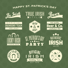 St. Patrick's Day Design Elements Collection