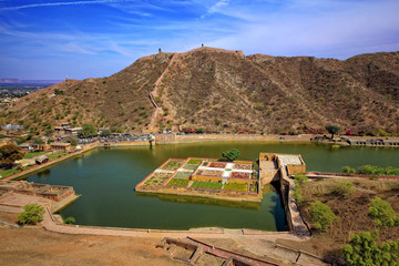 Amber fort, Jaipur, Rajasthan, India; Maota Lake