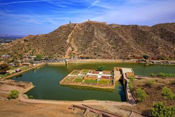 Amber fort, Jaipur, Rajasthan, India; Maota Lake