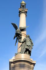 Adam Mickiewicz Monument in Lviv, Ukraine.
