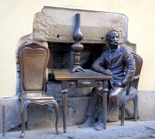 LVIV, UKRAINE -  February 05: Armenian street, open monument dev