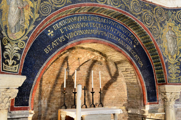Battistero Neoniano, arch with mosaics
