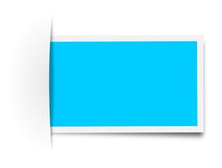 Zettel Schild blau