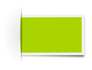 Schild Aufkleber grün leer