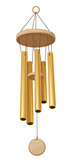 Wind chimes. Vector illustration. poster