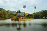island in Kandy lake, Sri Lanka
