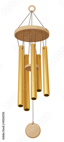 Wind chimes. Vector illustration.