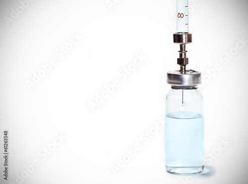 syringe with the vial