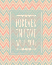 Chevron Pattern Valentine's Day Design