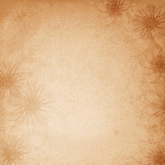Flower retro background. Vector illustration