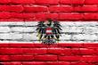 Austria Flag painted on brick wall